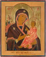 LARGE DATED ICON WITH THE MOTHER OF GOD OF TICHVIN (TICHVINSKAJA) Russia
