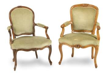 2 Rococo Chairs, 18. Century.,