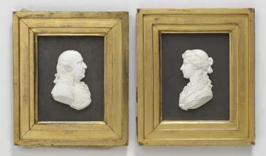 Two portrait medallions Archibald and Jane Grahame Scotland, after James Tassie (1735-1799)
