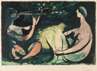 PABLO PICASSO 1881 Malaga - 1973 Mougins. THE FLUTE DOUBLE