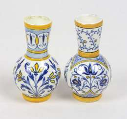 Miniature Faience Vase Pair
