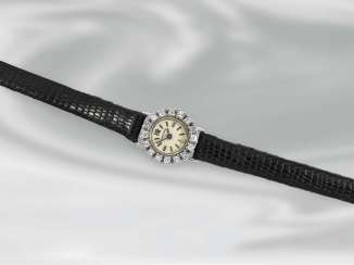 Watch: vintage ladies watch with diamond bezel, brand Blancpain, probably the 50s
