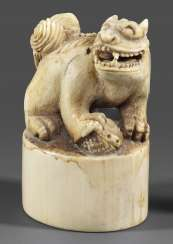 Ivory seal with lion