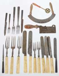 Pieces of Cutlery for doll's house from around 1900