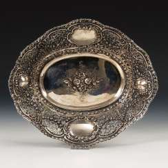Oval Silver Bowl.