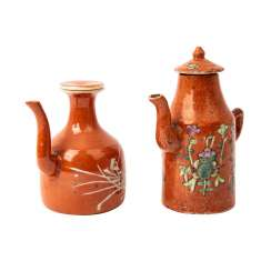 Two small jugs with an iron-red glaze. CHINA, around 1900.
