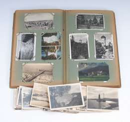 Post card album with approx. 390 Ansichtskar