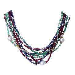 Color stone necklace from the