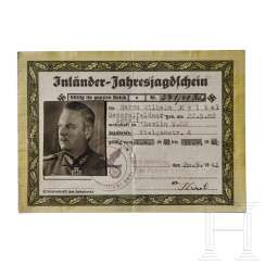 Generalfeldmarschall Wilhelm Keitel - a National Hunting License