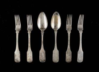 FOUR FORKS AND TWO SPOONS