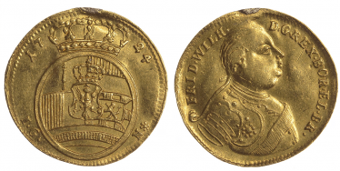 PRUSSIA 1 DUCAT 1724, FREDERICK WILLIAM