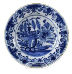 PLATE, BLUE AND WHITE, DELFT,