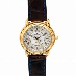 MAURICE LACROIX Les Classiques ladies watch with calendar, Ref. 1057, CA. 1990s. Gold Plated Case.