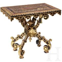 Richly carved and partially gilded baroque table, Venice, 17th century