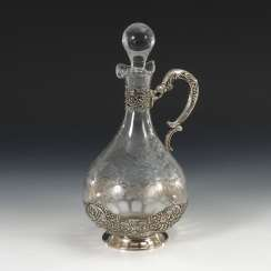 Decanter with silver mount