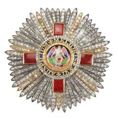United Kingdom: The most distinguished order of St. Michael and St. George, Grand cross star in brilliant.