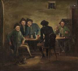Herrlein, Johann Andreas, kind of. Zechende farmers, card players in tavern