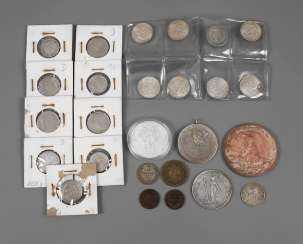 Collection of coins and medals from all over the world