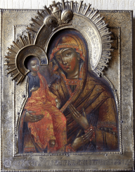 The icon of the blessed virgin,three hands,19th century