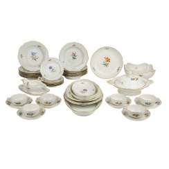 MEISSEN dinner service for 6 persons, German flower Neumarseille', 20. Century