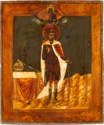 A BIG ICON WITH THE HOLY ALEXANDER NEVSKY