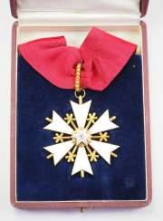 Estonia: order of the White star, 1. Model (1928 / 1936-1940), 3. Class, in a case.