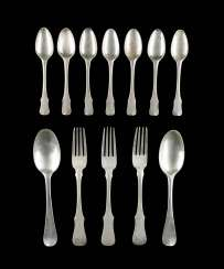 TWELVE NORTH GERMAN PIECES OF CUTLERY