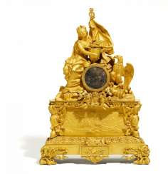 SIGNIFICANT PENDULE IN COMMEMORATION OF THE RELEASE NAPOLAON BONAPARTE TO PARIS