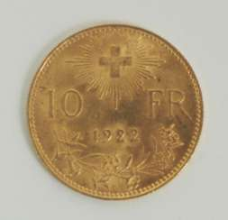Switzerland: 10 francs - 1922.