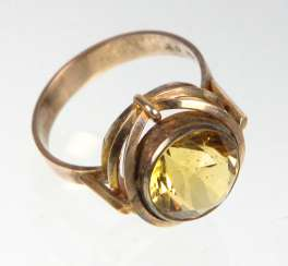 Citrin Ring - Gelbgold 333