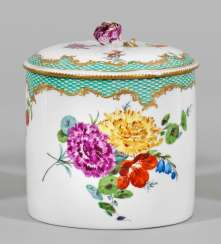 Large candy dish with floral decor