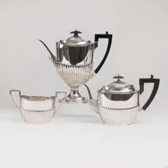 Victorian coffee and teapot with sugar pot