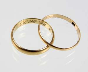 Pair of wedding rings - GG 333