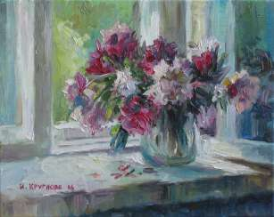 Peonies at the window