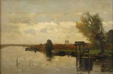 Willem Johannes Weissenbruch, in the Morning on channel