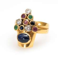 Designer-Ring with different stones