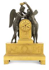 Fine clock with Cupid and Psyche