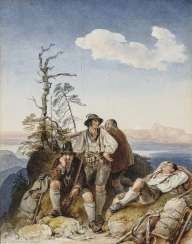 Locking smugglers , Fischbach, Johann, 1797, Schloss Grafenegg b. Krems - 1871 Munich