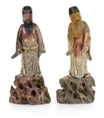 Pair Of Soapstone Figures On