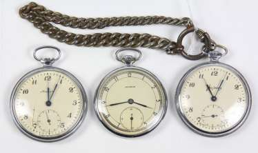 3 Russian pocket watches