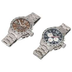 TW STEEL set of 2 bracelet watches,