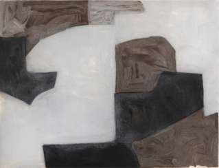 Composition in brown, gray and Black, 1964