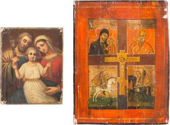 TWO ICONS: THE FOUR FIELDS-ICON AND THE HOLY FAMILY