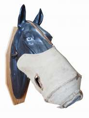 Russia: horse gas mask. Linen cloth with a centrally integrated filter