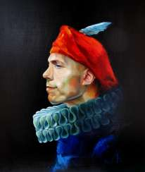 Portrait of a man in a red beret