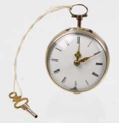 silver spindle pocket watch to 1730/50