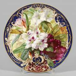 Large wall plate with soft painting