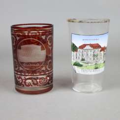 "Two souvenir cups ""Teplitz"""