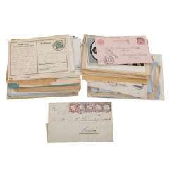 Approximately 80 letters and cards before 1945, with focus on Germany,
