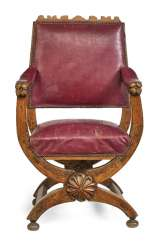 Scissor chair in the Renaissance style